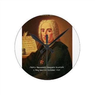 Pietro Alessandro Gaspare Scarlatti Round Clock