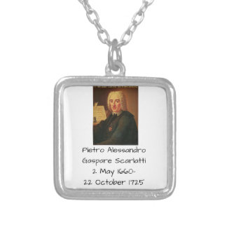 Pietro Alessandro Gaspare Scarlatti Silver Plated Necklace