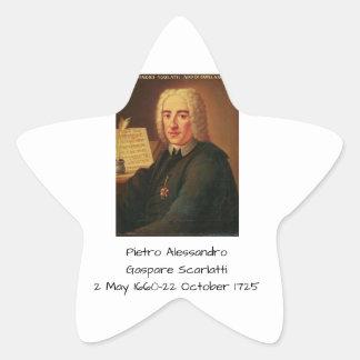 Pietro Alessandro Gaspare Scarlatti Star Sticker