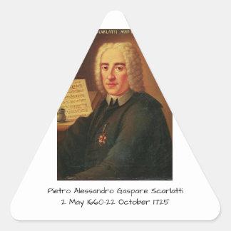 Pietro Alessandro Gaspare Scarlatti Triangle Sticker