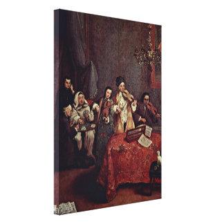 Pietro Longhi - Little Concert Canvas Print