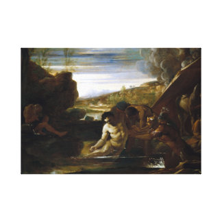 Pietro Testa Alexander the Great Rescued Canvas Print