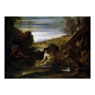 Pietro Testa Alexander the Great Rescued Poster