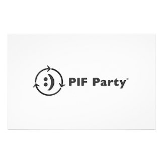 PIF Party Note Cards Customized Stationery