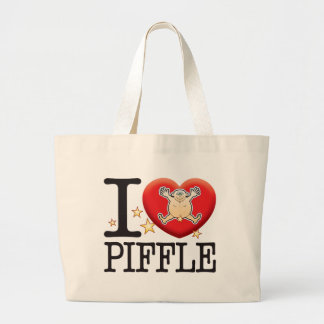 Piffle Love Man Large Tote Bag
