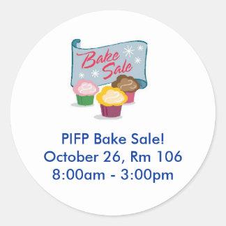 PIFP Bake Sale - 10/26 Round Sticker