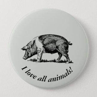 Pig 10 Cm Round Badge