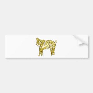 Pig 2 bumper sticker