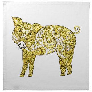 Pig 2 napkin