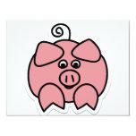 "pig 4.25"" x 5.5"" invitation card"