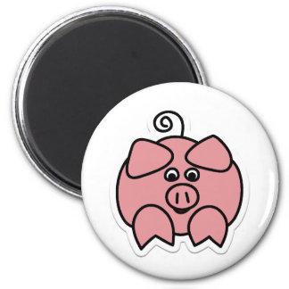 pig 6 cm round magnet