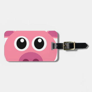 Pig and design items luggage tag