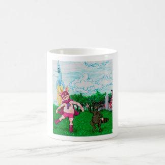 Pig and Raccoon and a Rocket Coffee Mug