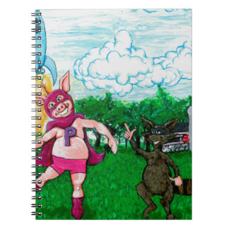 Pig and Raccoon and a Rocket Notebook