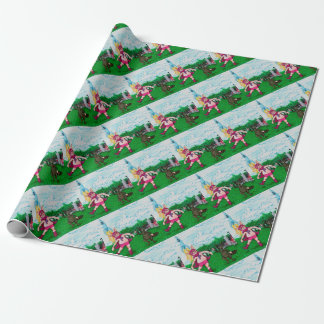 Pig and Raccoon and a Rocket Wrapping Paper