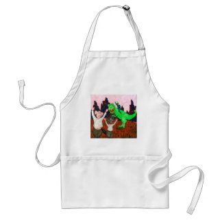 Pig and Raccoon have a Bad Day Standard Apron