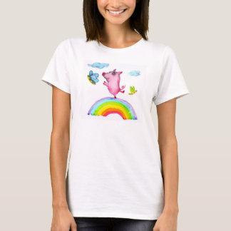 Pig and Rainbow T-Shirt
