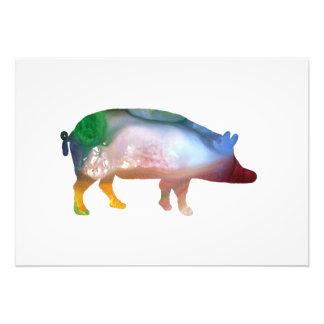 Pig art photo print