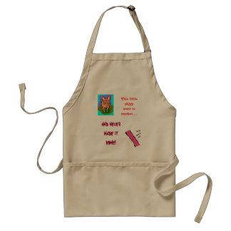 pig/bacon breakfast apron