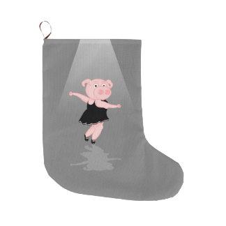 Pig Ballerina Large Christmas Stocking