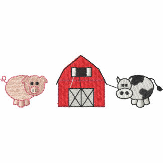 Pig/ Barn/ Cow Embroidered Jacket