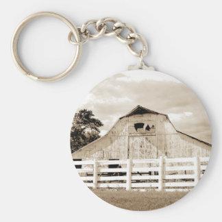 Pig Barn Basic Round Button Key Ring