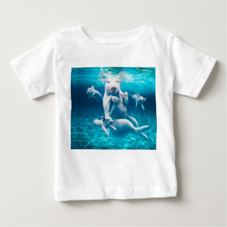 Pig beach - swimming pigs - funny pig baby T-Shirt
