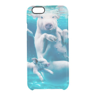 Pig beach - swimming pigs - funny pig clear iPhone 6/6S case