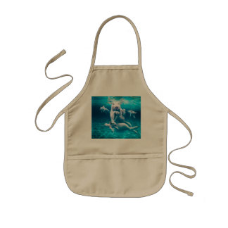 Pig beach - swimming pigs - funny pig kids apron