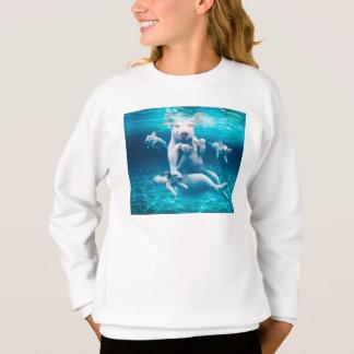 Pig beach - swimming pigs - funny pig sweatshirt