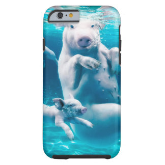 Pig beach - swimming pigs - funny pig tough iPhone 6 case