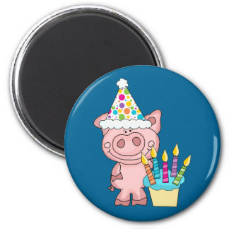 Pig Birthday Magnet