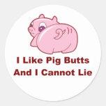 Pig Butts Round Sticker