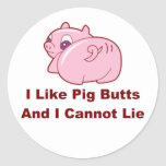 Pig Butts Round Stickers
