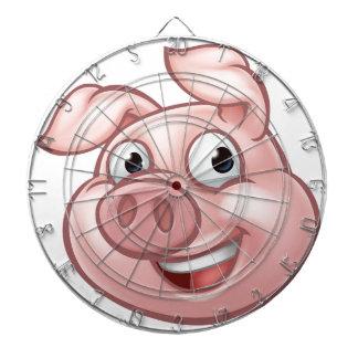 Pig Cartoon Character Mascot Dartboard