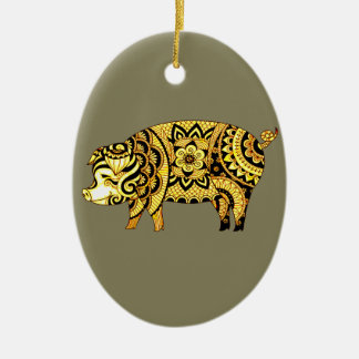 Pig Ceramic Ornament