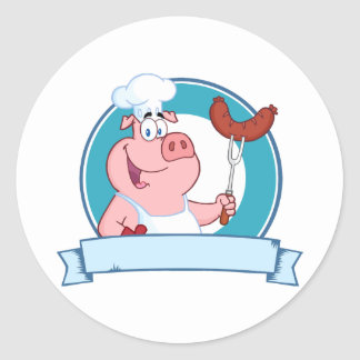 Pig Chef Stickers