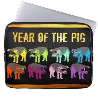 Pig Chinese New Year Zodiac Birthday Laptop Sleeve