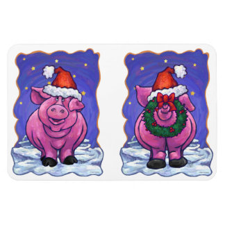 Pig Christmas Flexible Magnets
