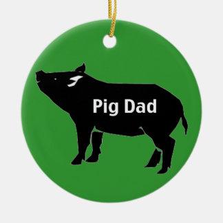 pig dad-001 ceramic ornament