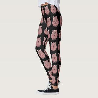 Pig Design Black Leggings