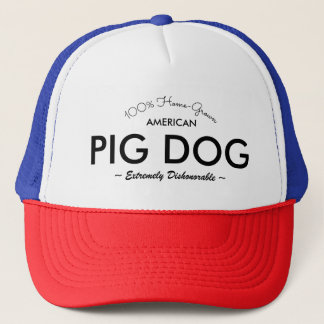 Pig Dog Hat PATRIOTIC NO U IN DISHONORABLE VERSION