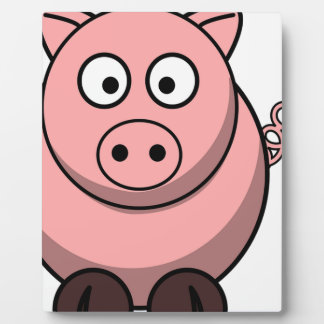 Pig Drawing Plaque