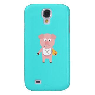 Pig eating Pizza Q1Q Samsung Galaxy S4 Cover