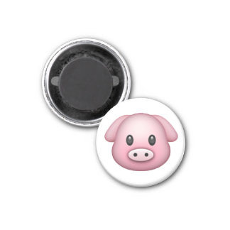Pig - Emoji 3 Cm Round Magnet