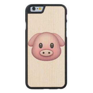 Pig - Emoji Carved® Maple iPhone 6 Slim Case