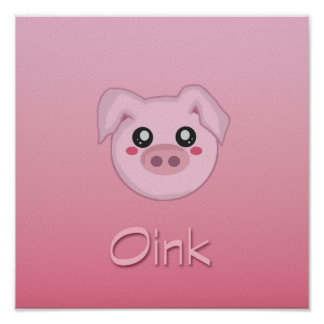 Pig Face Poster