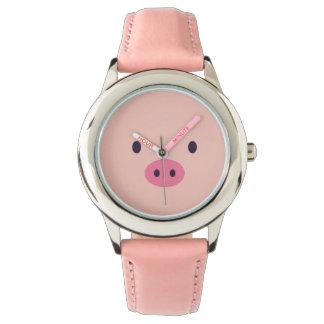 Pig Face Wristwatch
