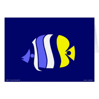 Pig Faced Butterfly Fish Greeting Card