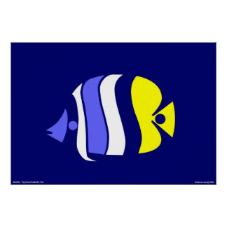 Pig Faced Butterfly Fish Poster